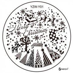 Kovinska ploščica za štampiljke Y01 - šablona  okrogla
