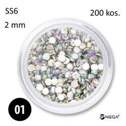 Kristalčki za nohte SS6, 200 kosov