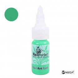 Nail Art svetlo zelena barva za poslikavo, 15ml