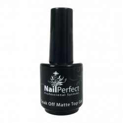 NP nadlak - Top gel  MAT soak off,  15 ml.