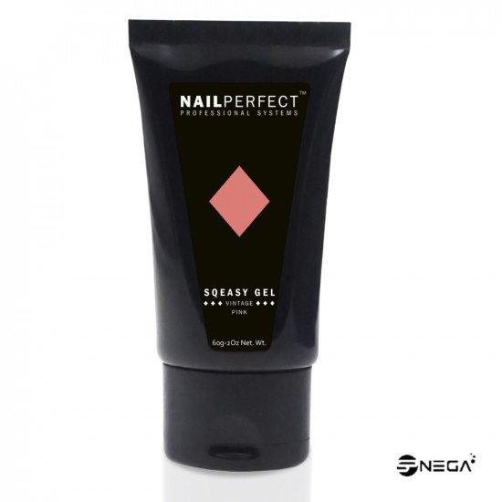 NP Sqeasy Gel -Vintage Pink , 60 gr s Profesionalni poli gel in akril sistem za nohte