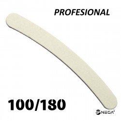 Pilica IBP za naravne in umetne nohte 100/180 banana bela profesional