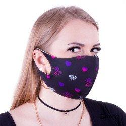 Pralna zaščitna maska za obraz vzorec 3, velikost S/M