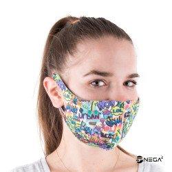 Pralna zaščitna maska za obraz vzorec 4, velikost S/M