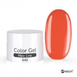 UV Gel  barvni MAT 42 CORAL RED