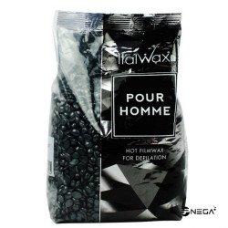"""Vosek """"VROČI"""" ItalWax v granulah Black-črni, 1000 g"""