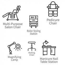 Vsa  kozmetična oprema, pohištvo in aparati - PO NAROČILU