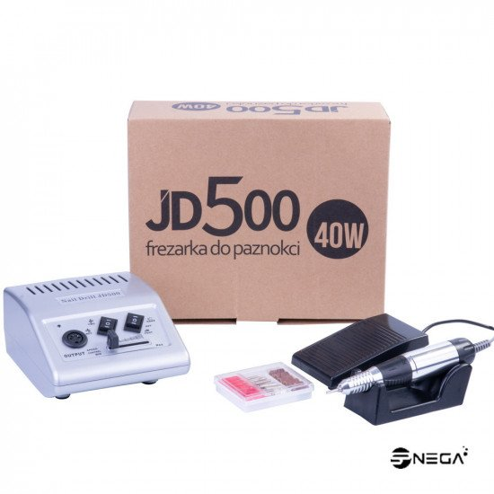 Brusilnik za manikuro z nastavki JD500 S Brusilniki in nastavki za nohte