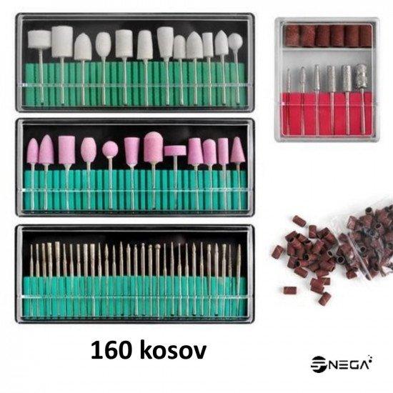 Brusilnik za manikuro in pedikuro z nastavki 65W črn in 160 nastavkov Električni brusilniki za nohte
